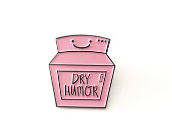 Enamel Pin, Funny Enamel Pin, Soft Enamel Pin, Lapel Pin, Brooch, Funny Enamel Pin, Dry Humor Enamel Pin, Sarcastic Enamel Pin, Cute Enamel
