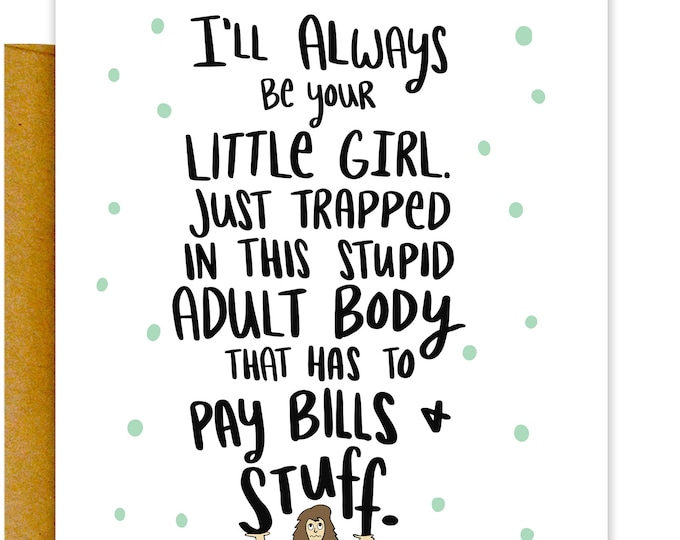 Always Be Your Little Girl Card