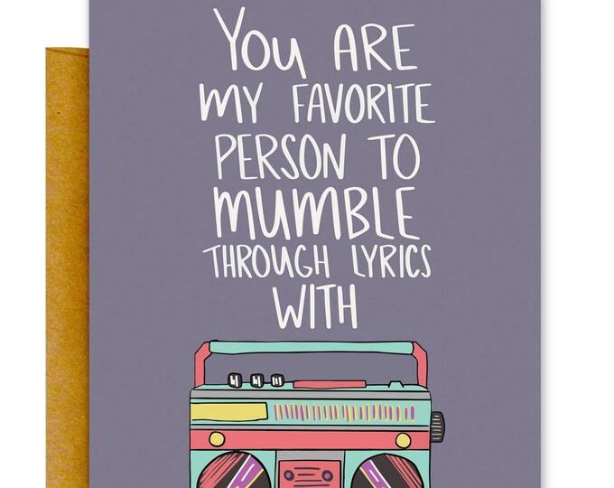 Funny Birthday Card, Music Card, Best Friend Card, Greeting Card, Funny Card, Funny Card, Love Card, Funny Cards, Funny Lyrics Card