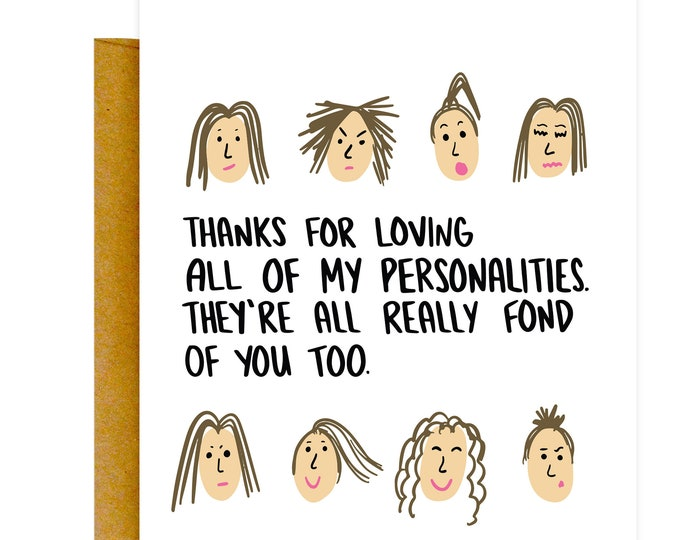 Funny Valentines Card, Valentines Day Card, Funny Love Card, Anniversary Card, Best Friend Card, Psycho Card, Love Card, Card for Boyfriend