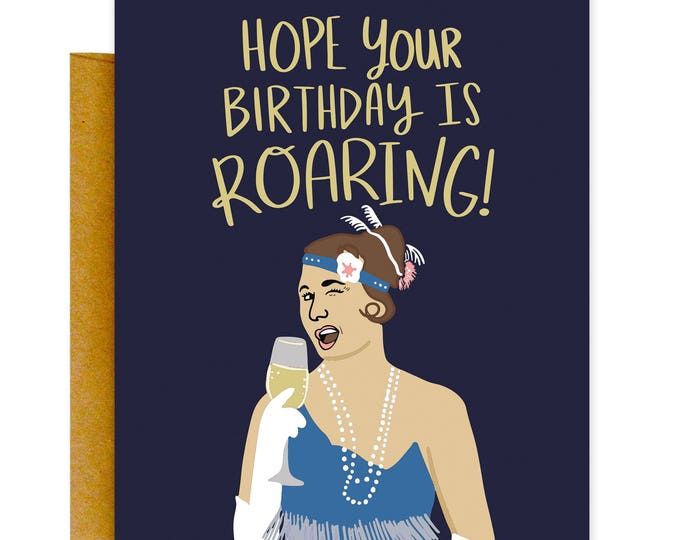 Funny 1920s Birthday Card, Funny Roaring 20s Card, Birthday Card, Funny Cards, 1920sCard, Funny Card, Birthday Card, Funny Greeting Card