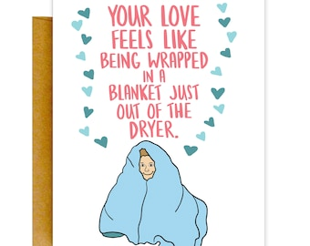 Card for Husband, Sweet Love Card, Funny Valentines Card, Card for Him, Funny Love Card, Card for Boyfriend, Card for Him, Anniversary Card