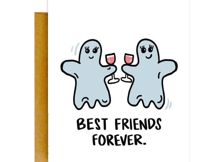 Funny Ghost Card, BFF Card, Encouragement Card, Friends Cards, Just Because, Knotty Cards, Funny Cards, Cute Cards, Funny Gifts