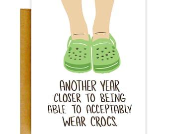 Crocs Birthday Card
