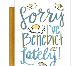 Funny Apology Card, Funny Greeting Card, Funny Sorry Card, Benedict Card, Sorry Card, Apology Card, I'm Sorry Cards, Sorry Greeting Card