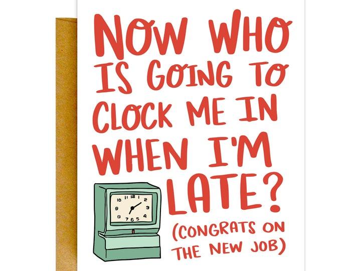 Funny New Job Card, Congrats Job Card, Work Card, Good Luck Cards, Funny Goodbye Card, New Job Card, Farewell Gift, Cute Cards, Funny Cards