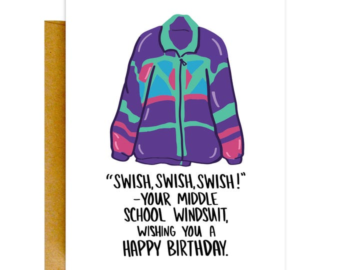 Funny 80s Birthday Card, Funny 80s Card, Birthday Card, Funny Cards, Funny Birthday Card, Birthday Card for Her, Funny Greeting Card
