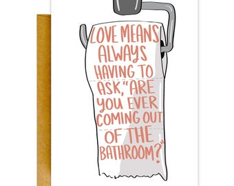 Funny Valentines Day Card, Valentines Card, Funny Love Card, Greeting Card, Card for Him, Funny Card, Love Card, Valentine Card, Anniversary