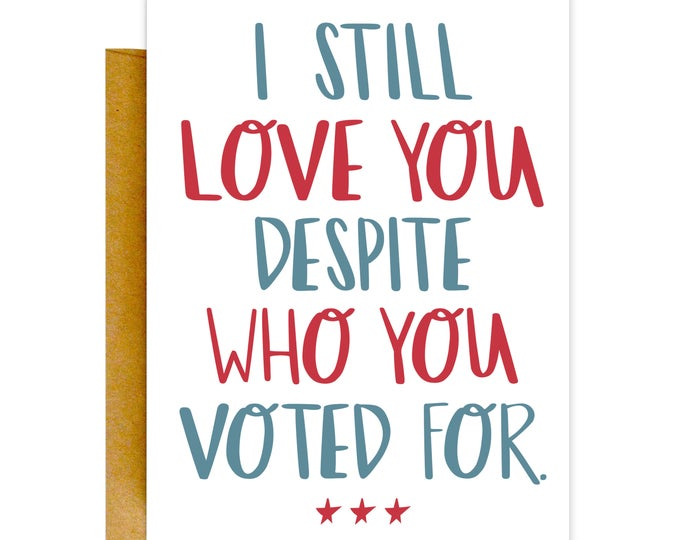 Funny Valentines Day Card, Valentines Card, Funny Love Card, Funny Trump Card, Political Birthday Card, Mother's Day Card, Voting Card