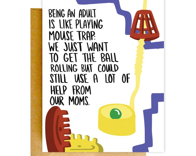 Funny Card for Mom, Funny Birthday Card, Card for Mom, Funny Adulting Card, Mother's Day Card, Funny Birthday, Birthday Cards, Adulting