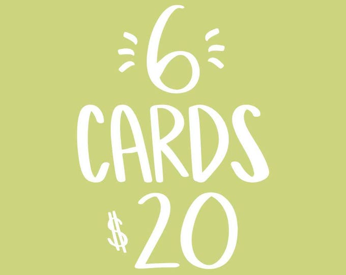 6 Card Bundle *FREE SHIPPING*