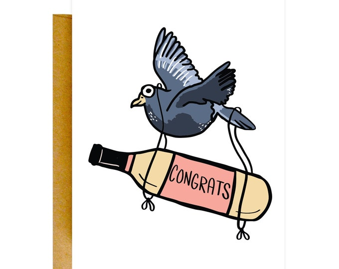 Funny Congrats Card, New Baby Card, Congratulations Card, Friends Cards, Just Because, Knotty Cards, Funny Wedding Cards, Wedding Card