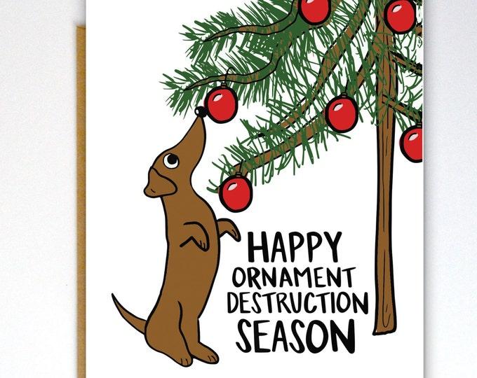 Ornament Destruction Card
