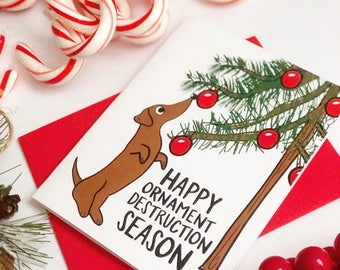 Funny Christmas Card, Christmas Card, Funny Holiday Card, Dachshund Card, Dog Christmas Card, Funny Card, Funny Cards, Funny Christmas
