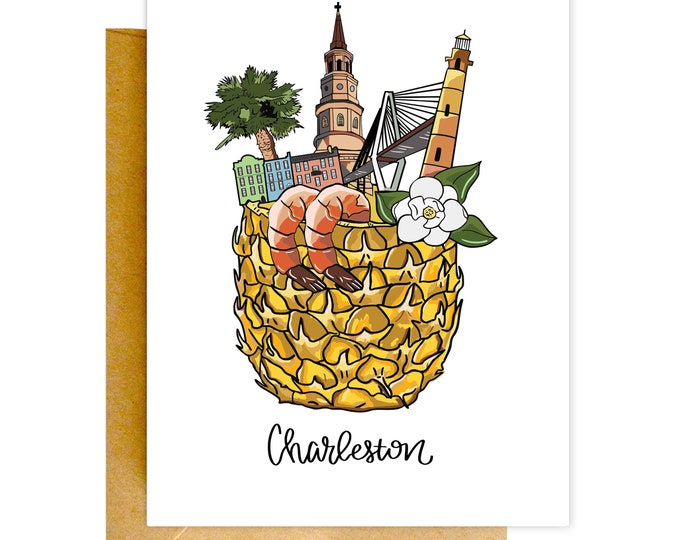 Charleston Card, Charleston Greeting Card, Charleston Post Card, Charleston South Carolina, Charleston Art, Charleston Print