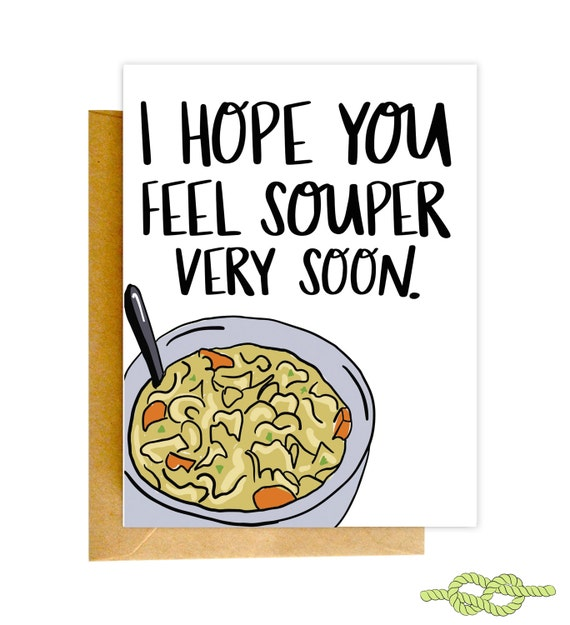 Get Well Soon Card Funny Get Well Card Sick Card Get Well Etsy