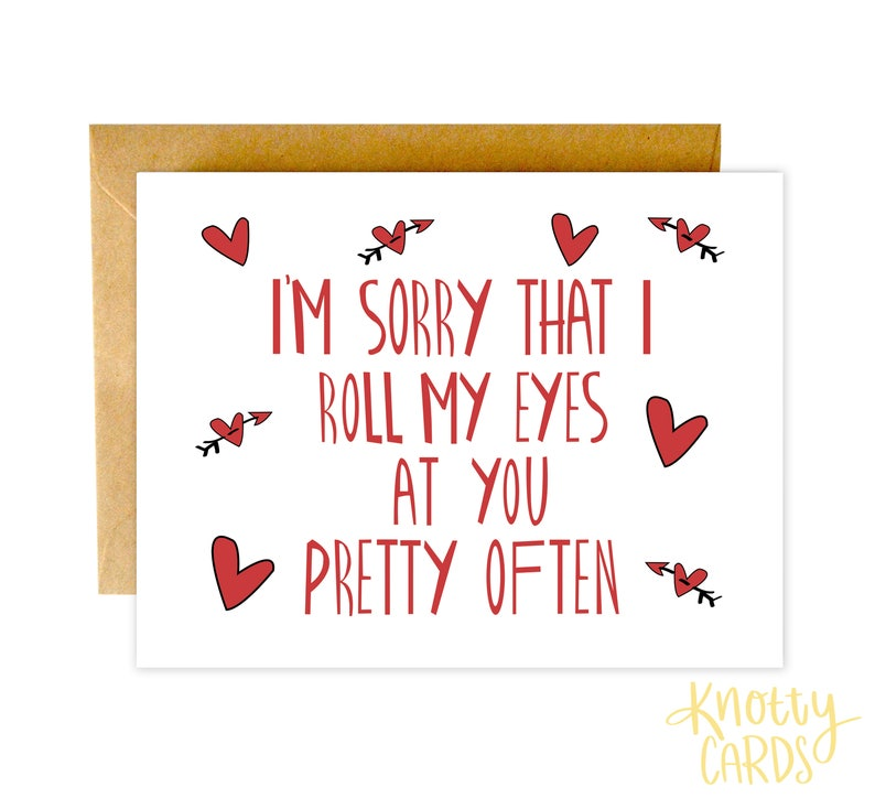 Funny Valentines Day Card Valentines Card Funny Love Card image 0