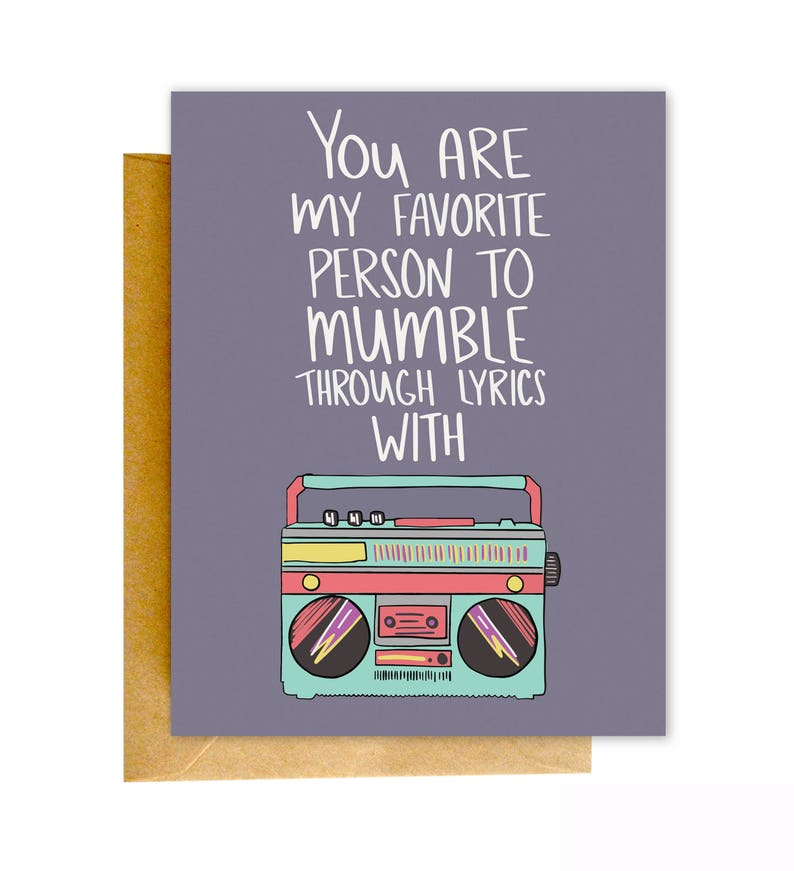 Funny Birthday Card Music Best Friend Greeting