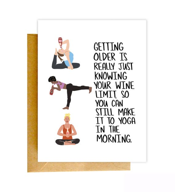 Funny Birthday Card Funny Yoga Card Birthday Card Funny Etsy