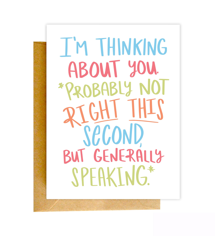 Funny Miss You Card Funny Card I Miss You Card Greeting Etsy