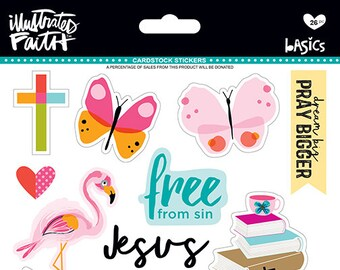 Illustrated Faith Everyday Icons BIble Journaling Stickers