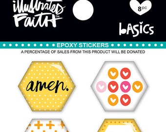Illustrated Faith Banans For You Hexy Stickers for Bible Journaling, Planners, and more!