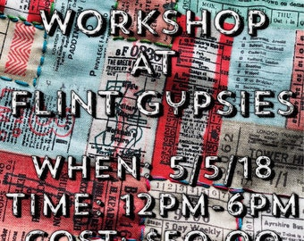 Bible Cover Workshop at Flint Gypsies