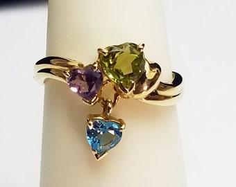 14kt Yellow Gold Multi Gemstone Ring - 4.CJ2423