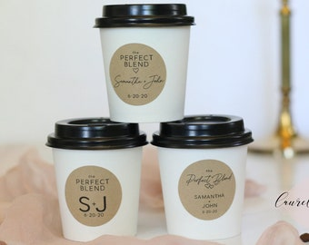 Coffee Wedding Favors | Bridal Shower Coffee Favor | Coffee K Cup Favors | Individual Coffee Cups | Set of 30