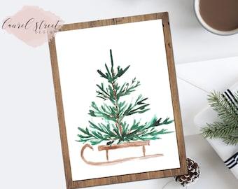 Pine Tree ~ Christmas Tree ~ Printable ~ Christmas Art ~ Christmas Printable ~ Wall Art ~ Holiday Art