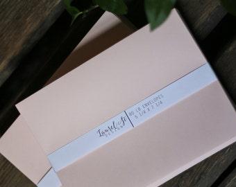 """BLUSH A7  Envelopes  (pink/peach) ~ Invitation Envelope ~ A7 = 5 1/4"""" x 7 1/4"""" ~ qty 25"""
