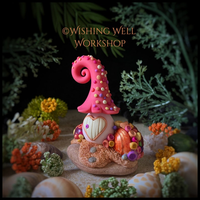 Polymer Clay Coral Cottage Polymer Clay Fairy House Fairy image 0