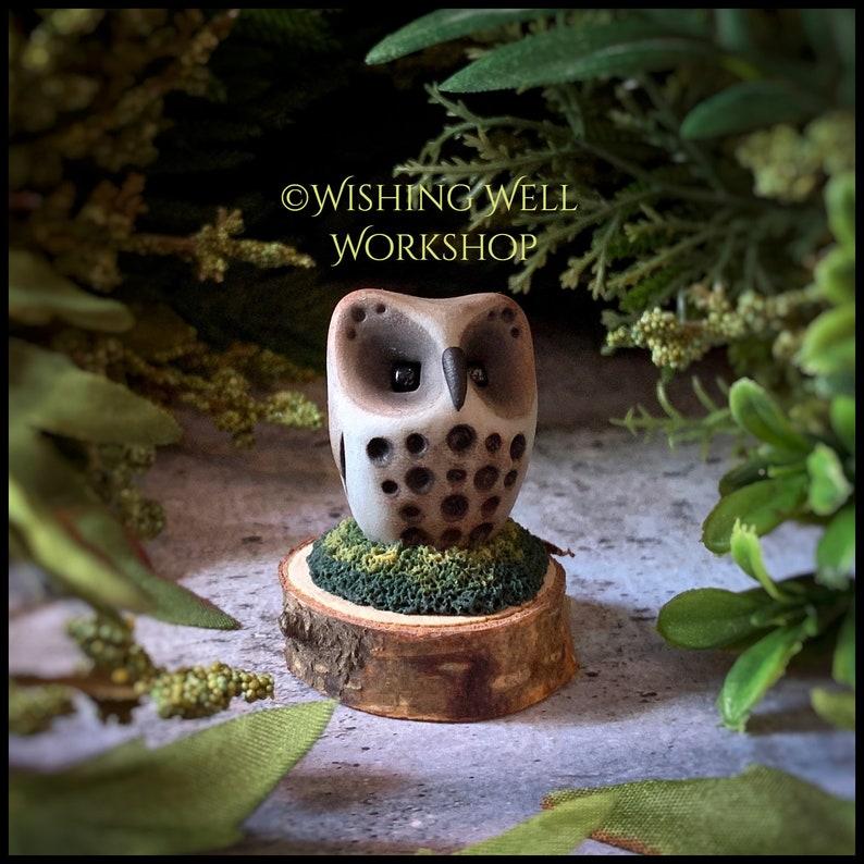 Polymer Clay Owl Miniature Owl Owl Decor Bird Decor Owls image 0
