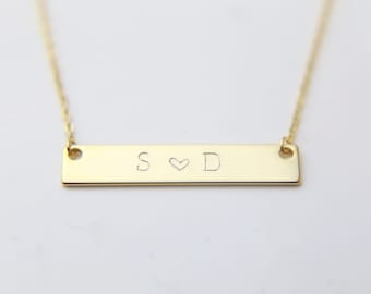 Name Necklace / Couples Necklace / Personalized Initial Necklace / Lovers Necklace