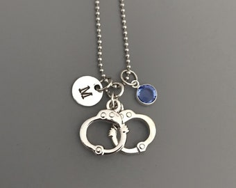 Handcuffs Necklace-Police Necklace-Police Officer Jewelry