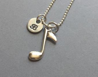 Music Note Necklace-Band Jewelry-Music Necklace