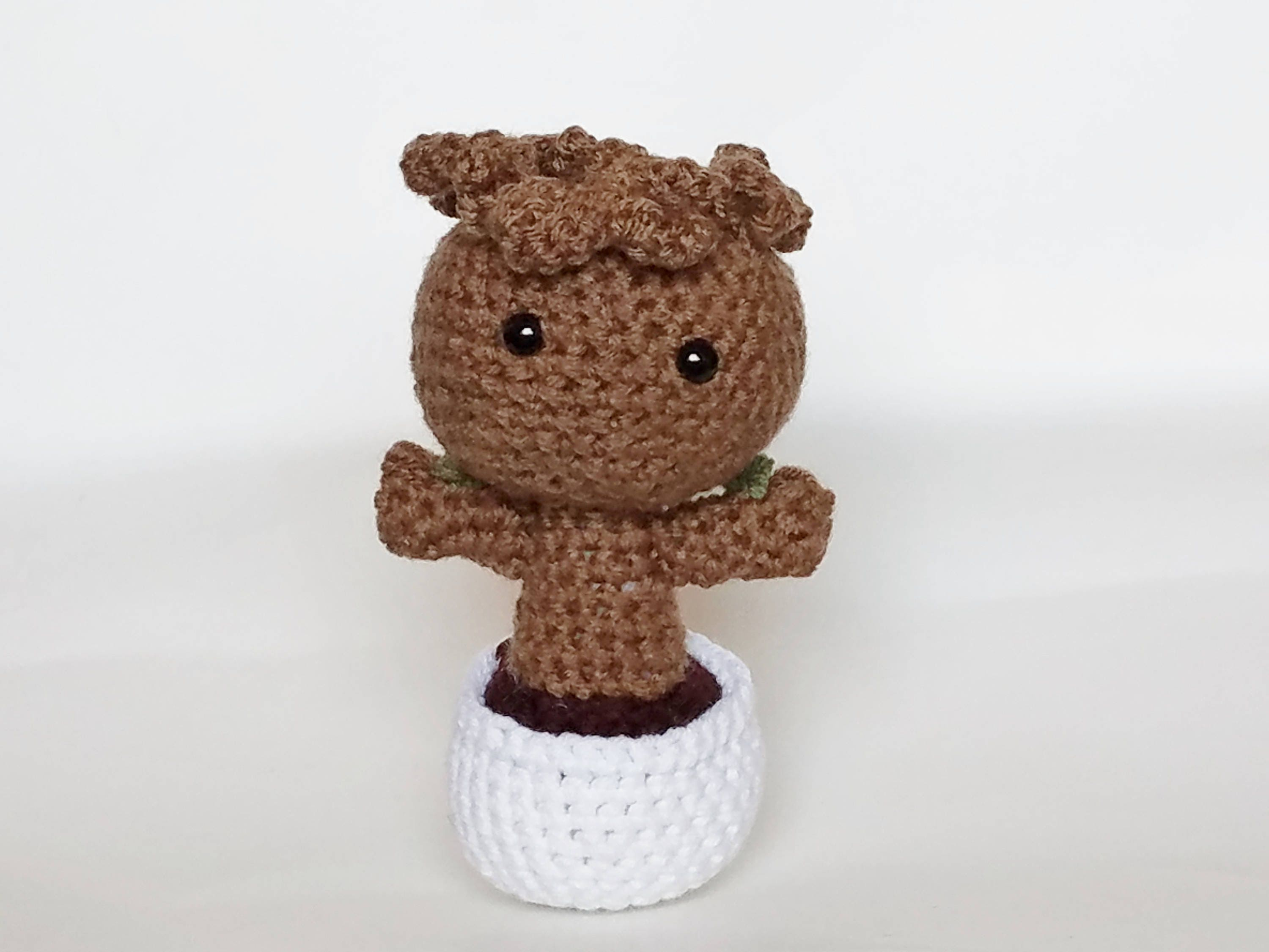 Free Crochet Pattern: Potted Baby Groot from Guardians of the ... | 2250x3000
