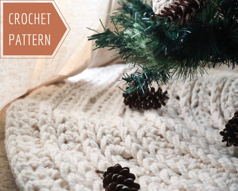 Nordic Christmas Tree Skirt Crochet Pattern Holiday Decor image 0