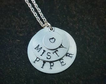 Customized Handstamped Necklace