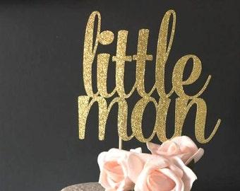 Little Man cake topper -- baby shower cake topper -- cake topper
