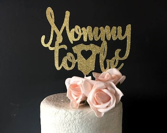 Mommy to be cake topper .. baby shower cake topper .. baby shower celebration .. baby shower