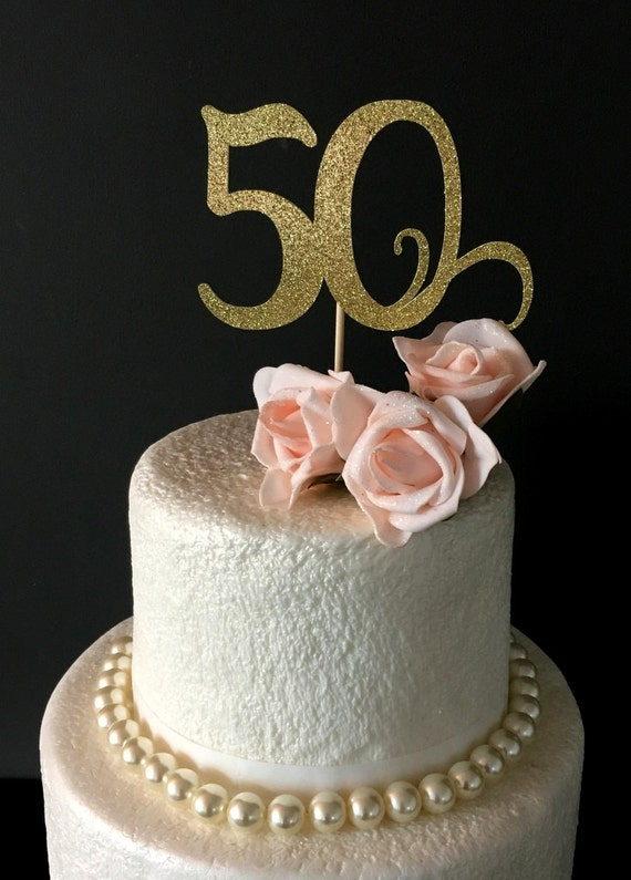 50th Birthday Cake Topper Happy