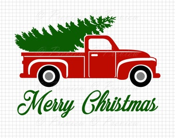 Christmas tree truck | Etsy