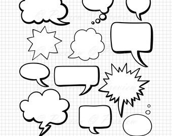 Speech Bubbles Svg Etsy