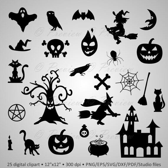 image about Free Printable Halloween Silhouettes named Acquire 2 Order 1 Free of charge! Electronic Clipart Halloween Silhouettes, castle, witch spider delighted halloween, black shots png/eps/svg/dxf/pdf/studio information