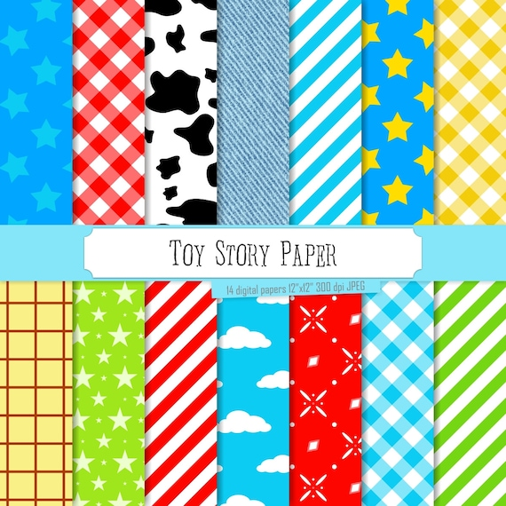 buy 2 get 1 free digital paper toy story paper blue green etsy