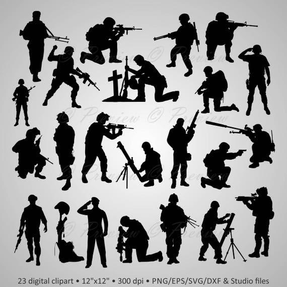 Acheter 2 Get 1 Free Militaire De Clipart Silhouettes
