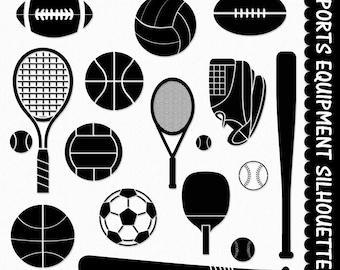 Sports Equipment Clip Art Clipart Graphic Scrapbook ...