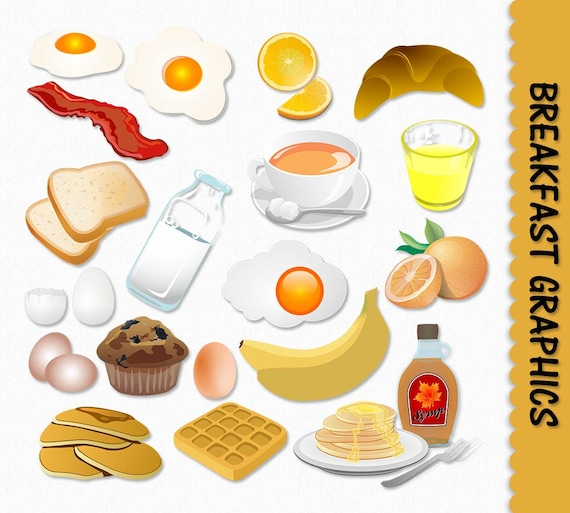 breakfast food clip art graphics clipart scrapbook muffin egg etsy rh etsy com clipart breakfast food pictures breakfast food clip art pictures