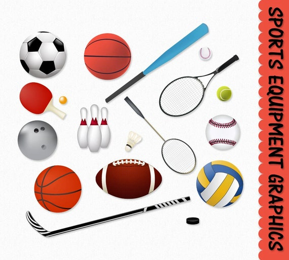 sports equipment clip art clipart graphic scrapbook basketball rh etsy com Photo Album Clip Art Family Clip Art Scrapbook